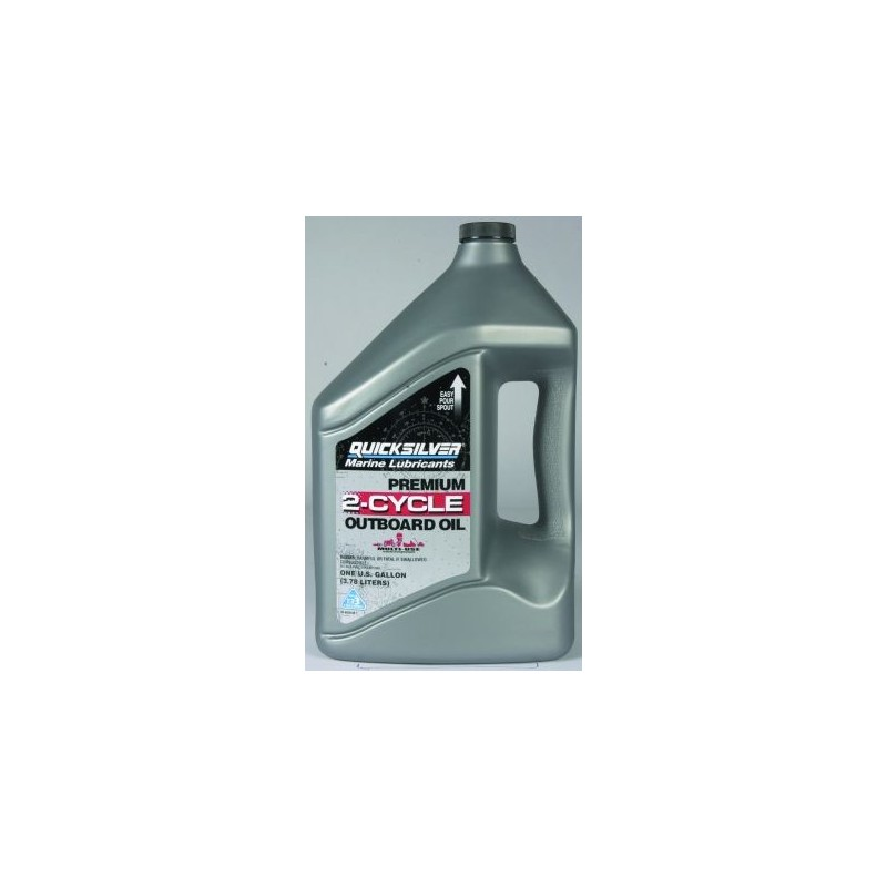 92-858022QB1 Premium 2-cycle TC-W3 outboard oil 4  litres