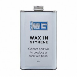 Blue Gee wax in styrene 500ml