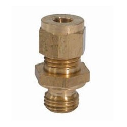 2-76945 Coupling 1/2 inch unf-1/4inch tube