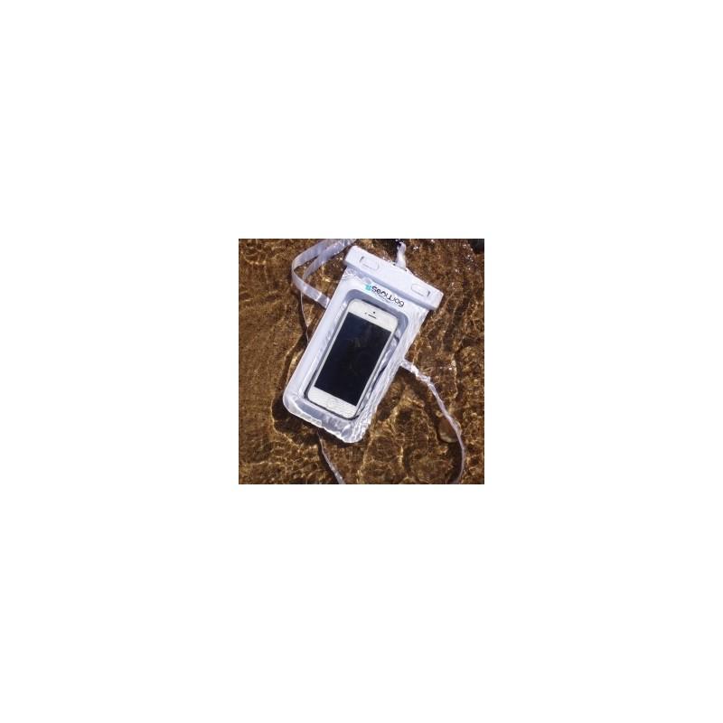 Waterproof case for Smart Phones white
